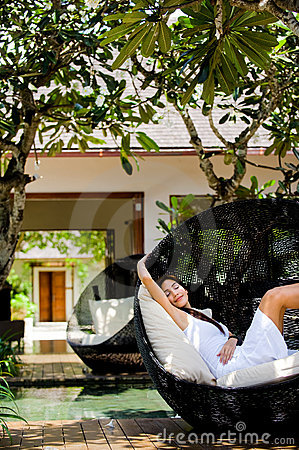 Free Lounging Outdoors Royalty Free Stock Photography - 13744717