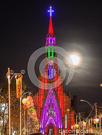 Free Lourdes Church Clock Tower Canela Brazil Royalty Free Stock Photos - 25509938