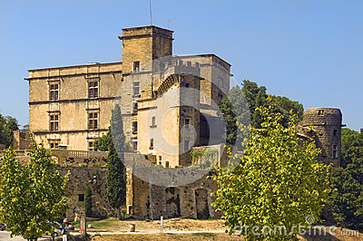 Lourmarin slott (chateau de lourmarin), Provence, Frankrike