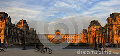 Louve Museum in Paris Editorial Stock Photo