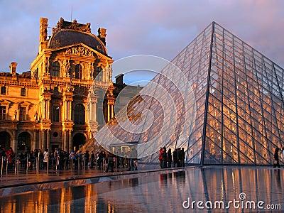 Louvre, Paris, France Editorial Photo