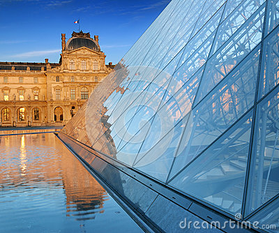 Louvre. Editorial Stock Photo