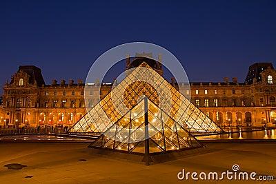 The Louvre Art Museum  in Paris Editorial Stock Photo