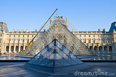Louvre Art Museum, Paris Editorial Stock Image