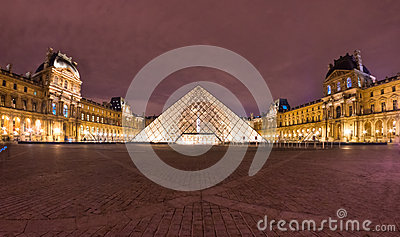 The Louvre Art Museum, Paris. Editorial Photo