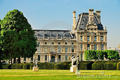 Louvre from the Jardin des Tuileries