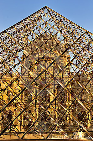 Louvre marks 20th Anniversary of glass pyramid Editorial Stock Photo