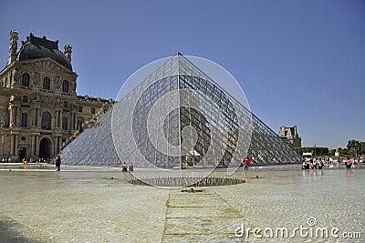 Louvre mureum in Paris, France Editorial Photography