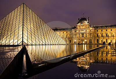 Louvre Museum Editorial Stock Image