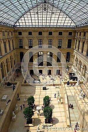 Louvre museum interior Editorial Photo