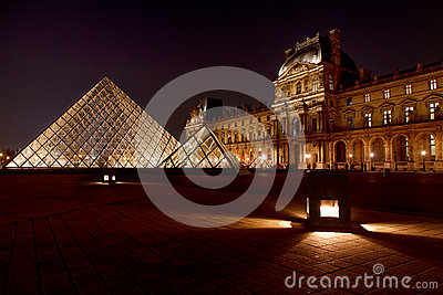 Louvre Museum and its pyramid