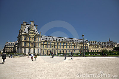 Louvre Museum in jardin des tuileries Editorial Photo