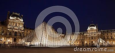 Louvre Museum panorama Editorial Image