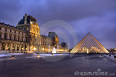 Louvre Museum in Paris Editorial Image