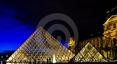 Louvre Museum in Paris Editorial Stock Image