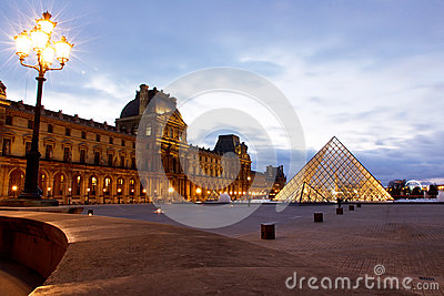 Louvre Museum Paris Editorial Stock Image