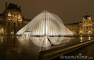 Louvre Museum, Paris Editorial Photography