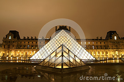 Louvre Museum, Paris Editorial Stock Photo