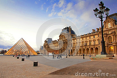 Louvre Museum Paris Editorial Stock Photo