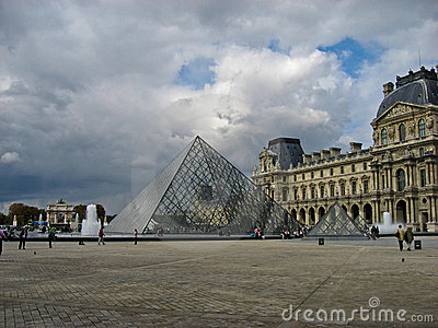 Louvre Museum Paris France Editorial Image