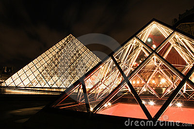 Louvre Museum  in Paris France Editorial Photo