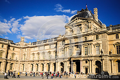 Louvre museum -Paris, France Editorial Photography
