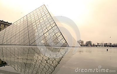 Louvre museum in Paris, France Editorial Stock Image