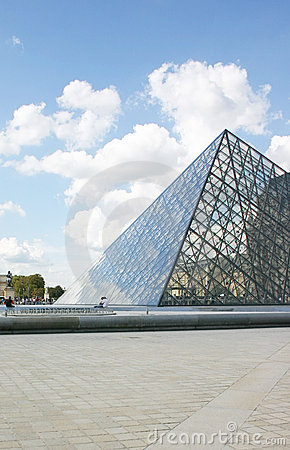 Louvre Museum Pyramid Editorial Stock Photo