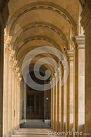 Louvre museum walkway - France - Paris