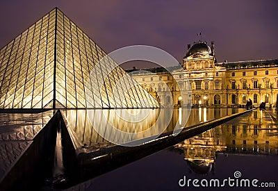 Louvre muzeum Obraz Stock Editorial