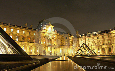 Louvre at night 1 Editorial Image
