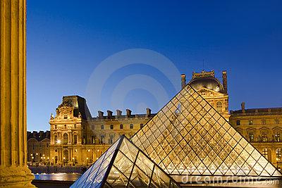 Louvre in Paris Editorial Image