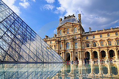 The Louvre, Paris Editorial Stock Photo