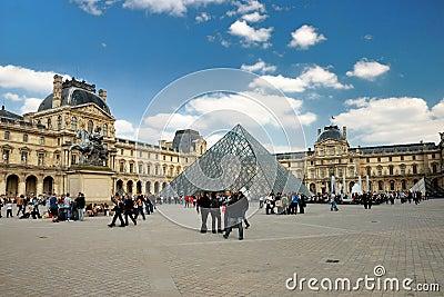 The Louvre in Paris Editorial Image