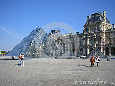 Louvre in Paris Editorial Stock Photo