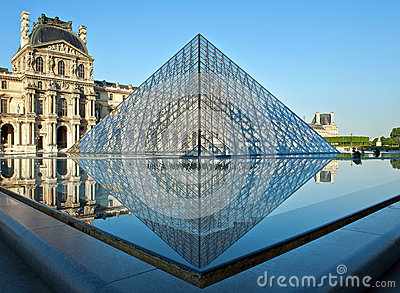 Louvre Paris Editorial Photography
