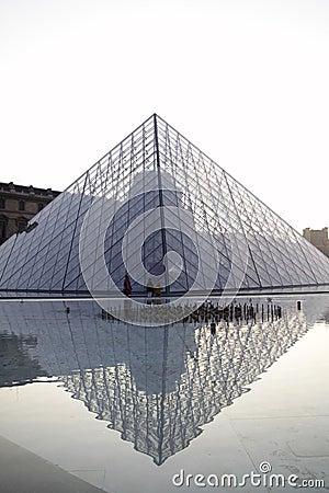 Louvre pyramid Editorial Image