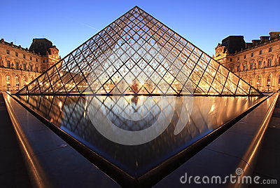 Louvre Pyramid Editorial Photography