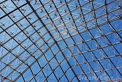 Louvre pyramid s roof Editorial Stock Image