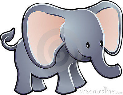 Lovable Elephant Cartoon Vector