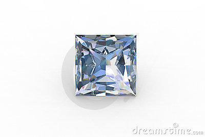 Lovable princess cut blue topaz stone