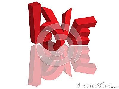 love 3d text #1