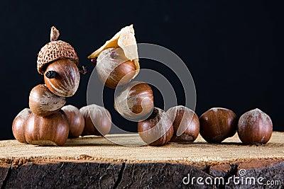 Love among acorns
