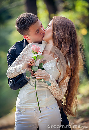 Love and affection between a young couple