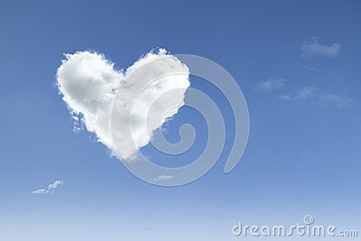 Love in the air on blue sky