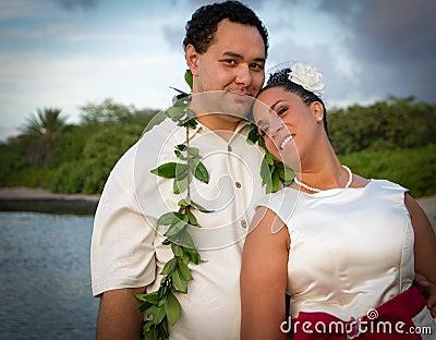 couple enjoying hawaiian nudeist beach