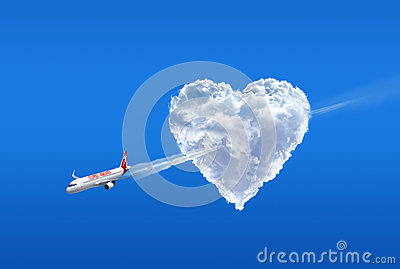 Love airline. Love is in the air