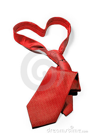 Free Love Always Red Necktie Gift Royalty Free Stock Image - 18730446