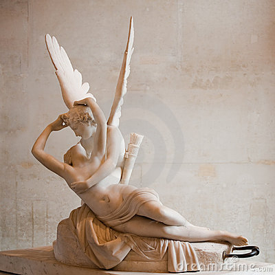 Free Love And Psyche, By Antonio Canova Royalty Free Stock Photo - 10596965