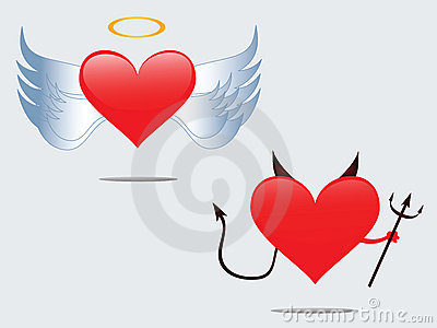 Love angel and Devil